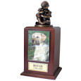 Friends Forever Cremation Wood Dog Urn -Large